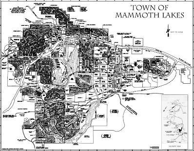 Town of Mammoth lakes map icon